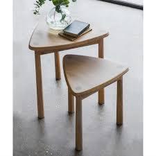 alpine modern nest of 2 oak tables