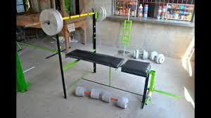 bench press diy gym equipment