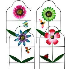 Gift Boutique Decorative Painted Metal Garden Fence 4 Pack Flower Design Border Edge Gate For Yard Patio Lawn Landscape And Outdoor Decor Talkingbread Co Il
