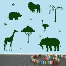 Sweetums Signatures African Safari Animals Wall Decal Set Animals Nursery Kids Room Decals Murals