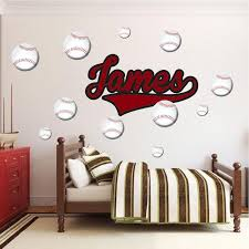 Custom Boys Bedroom Name Wall Decal Child Names Wallpaper Personalized American Wall Designs