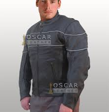police style sport mens leather jacket