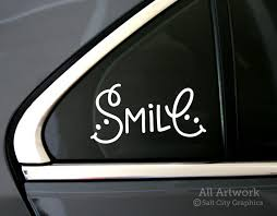 Smile Decal Smiley Face By Salt City Graphics