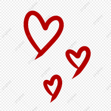 cute love shape in hand drawn style