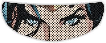 Wonder Woman Motorcycle Helmet Shield Sticker Skullskins