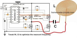 design an induction heater circuit