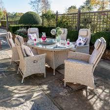 henley rattan oval garden dining set