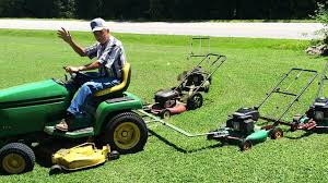 homemade 5 in 1 lawnmower reduces