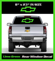 6 To 8 Year Out Door Life 8 Inch By 23 Inch Lime Green Chevy Bow