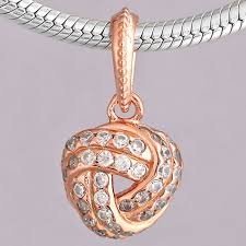 original rose sparkling love knot with