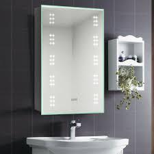 illuminated led bathroom mirror cabinet