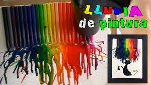 Cuadro Con Ceras O Crayolas Derretidas Lluvia De Pintura Youtube