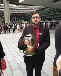 My fiance went to RTX Sydney as Guillermo del Toro from the second Death  Stranding trailer : DeathStranding