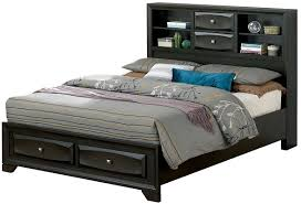 Adriana Bookcase Bed Grey Brown