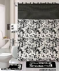 18 piece bath rug set black white beige
