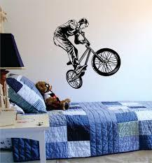 Bmx Biker Version 4 Design Sports Decal Sticker Wall Vinyl Boop Decals
