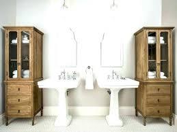 bathroom storage ideas with pedestal