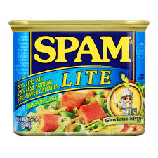 spam lite 12 ounce can lunch meat with