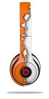 Beats Solo2 Solo3 Wireless Skins Ripped Colors Orange White Wraptorskinz