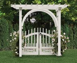 arched arbor with a westchester double