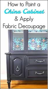 how to make your painted china cabinet
