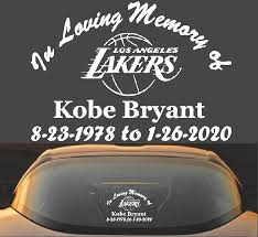 Kobe Bryant Lakers Decal Sticker Black Mamba Decalexpo Com