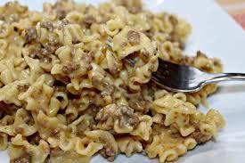 homemade hamburger helper style pasta