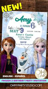 Frozen 2 Birthday Invitation Invitaciones Cumpleanos Frozen
