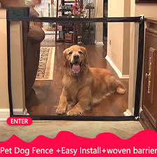 Magic Gate Dog Pet Fences Portable Folding Safe Guard Indoor And Outdoor Protection Safety Magic Gate For Dogs Cat Pet Houses Kennels Pens Aliexpress
