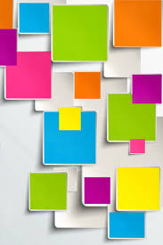 colored paper sticky notes