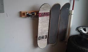 diy skateboard hanger skateboard