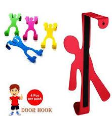 Over The Door Hooks Metal Kids Room Coat Hanger Clothes Towel Storage Set Of 4 Ebay