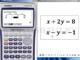 solving two equations with two unknowns