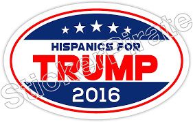 Amazon Com Hispanics For Trump 2016 Oval Bumper Sticker O111 Automotive