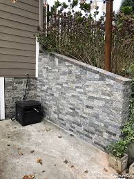 airstone faux stones on concrete wall