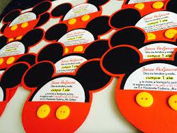 Invitacion Cumpleanos Nino Fiesta Mickey Mouse