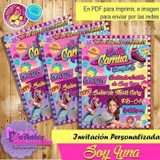 Kit Imprimible Soy Luna Personalizado Invitaciones Fiesta 300