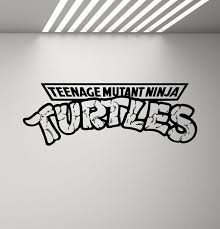 Teenage Mutant Ninja Turtles Wall Decal Boy Children Room Tmnt Etsy