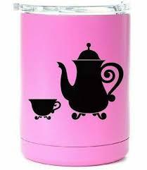 Teapot Tea Pot Yeti Decal Die Cut Vinyl Car Decal Sticker Etsy