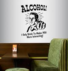 Wall Vinyl Decal Home Decor Art Sticker Alcohol I Only Drink Etsy