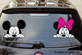 Mickey And Minnie Mouse Car Decal Svg Svgfile Co 0 99 Cent Svg Files Life Time Access