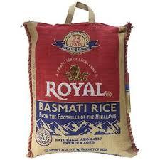 royal white basmati rice 20 pound bag