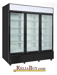 75cf commercial 3 door glass door