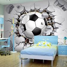 Custom Any Size 3d Stereoscopic Photo Wallpaper For Kids Room Modern Creative Football Broken Wall Mural Bedding Room Backdrop Photo Wallpaper Wallpaper For Kids3d Stereoscopic Aliexpress