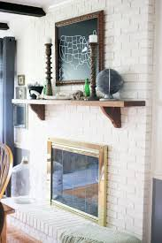 how to paint a brick fireplace and the