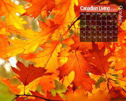 fall calendar desktop background