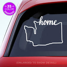 Amazon Com Washington State Home Decal Wa Home Car Vinyl Sticker Add A Heart Over Seattle Olympia Tacoma Or Yakima Made With Outdoor Vinyl Handmade