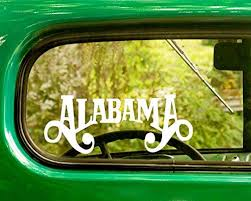 Amazon Com 2 Alabama Band Decal Stickers White Die Cut For Window Car Jeep 4x4 Truck Laptop Bumper Rv Home Kitchen