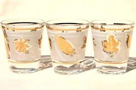 gold shot glasses plastic rimmed