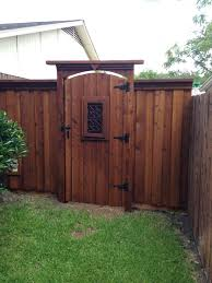 Arched Gate Tall Header Fence Gate Design Backyard Gates Wooden Garden Gate